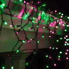 Halloween Yard Stake Lights by 150 Mini Purple Green Halloween Icicle Light Set Black Wire