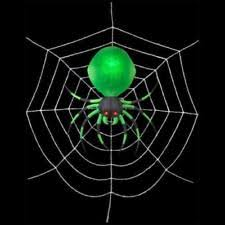 Airblown Inflatable Halloween Yard Decorations by 2 U0027 Projection Airblown Green Spider On The Web Halloween