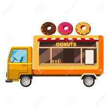 100 Snack Truck Donut Mobile Icon Cartoon Illustration Of Donut