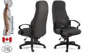 fauteuil de bureau ergonomique mal de dos fauteuil de bureau pour obèse