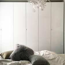 schlafzimmer ikea papierleuchte weiss lammfellk