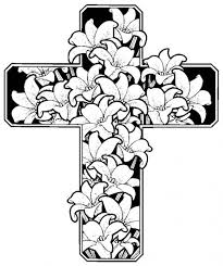Cross Coloring Pages With Flowers For Adults
