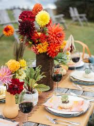 Dining Room Table Decorating Ideas For Fall by Rustic Fall Table Setting Ideas For Outdoor Celebrations Hgtv
