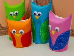 Paper Owls With Googly Eyes