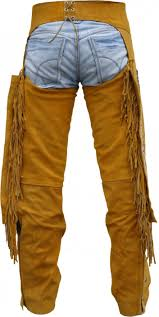 western leather indian chaps pants western carnival fasching