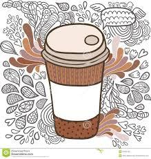 Cute Cartoon Doodle Coffee Cup