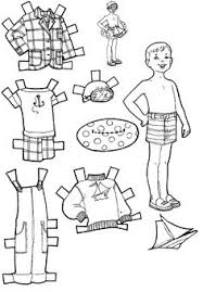 Vacation Paper Dolls To Color And Cut Out
