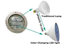 how to change swimming pool light bulb to led text and image guidance