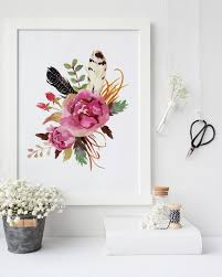 Marvellous Design Floral Wall Art With Best 25 Ideas On Pinterest Nursery