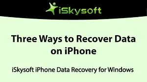 iSkysoft Toolbox for iOS Three Ways to Recover Lost Data on