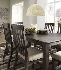 dresbar grayish brown rectangular dining room set brown