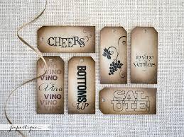 Custom Made Wine Bottle Tags