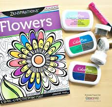 Coloring Book And Ink Supplies KTracey