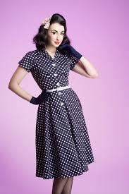 50s Style Cute Dress Vintage Polka Dots Rockabilly