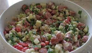 salade de pâtes et saucisses recettes du québec