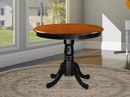 East West Furniture ANT-BLK-TP Antique Table 36