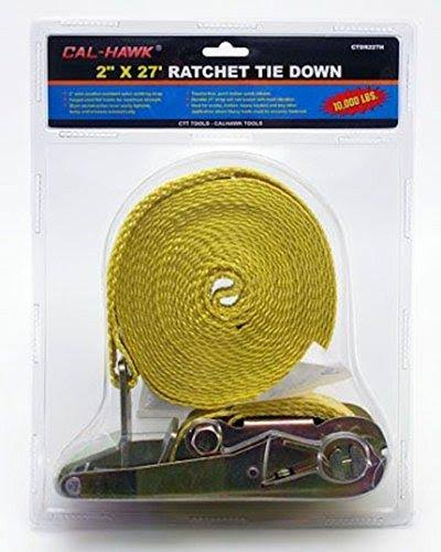 Cal Hawk Ratchet Tie Down - 27'x2""