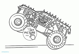 28+ Collection Of Max D Monster Truck Coloring Pages | High Quality ...