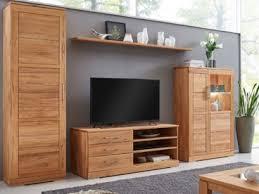 wimmer casera wohnwand c 3835 massivholz geölt holzausführung und beleuchtung wählbar für ihr wohnzimmer oder esszimmer