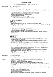Download Cnc Machinist Resume Sample As Image File