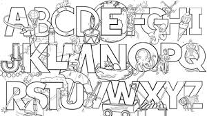 Letters Printable Color