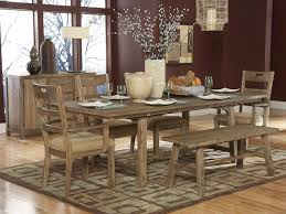 Rustic Dining Room Decorations by Farmhouse Dining Table With Bench Seating Amazing Home Office