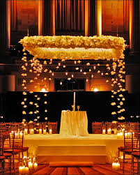 Floating Flowers Christian Wedding Stage Decoration