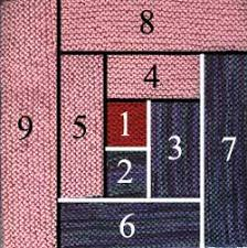 Free Knitting Pattern Log Cabin Afghan Square