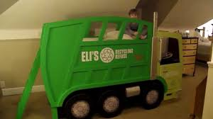 Eli's Garbage Truck Bed YouTube, Monster Truck Bunk Bed - Intersafe