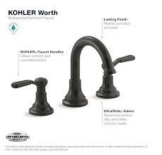 kohler worth 8 in 2 handle widespread bathroom faucet in oil