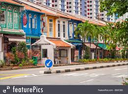 100 Singapore House Bright Painted Residential S In RoyaltyFree Stock Picture