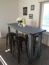 Best 25 Rustic Bar Tables Ideas On Pinterest Iron Pipe Shelves Throughout Height Table And Chairs Decorating