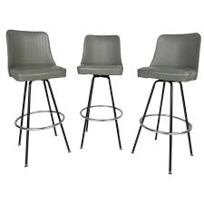 48 Most Unbeatable Furniture Gray Leather Mid Century Bar Stools ...