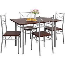 casaria 5 tlg sitzgruppe paul esstisch mit 4 stühlen eiche dunkel esszimmer küche essgruppe küchentisch tisch stuhl