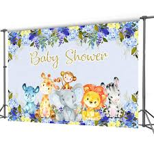 Amazoncom Mocsicka Safari Baby Shower Backdrop 7x5ft
