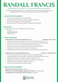 Medium Size Of Resume Template Summary Qualifications Sample Nurse Fresh Example Registered Rn