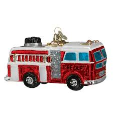 100 Old Fire Truck Amazoncom World Christmas Ornaments Glass Blown
