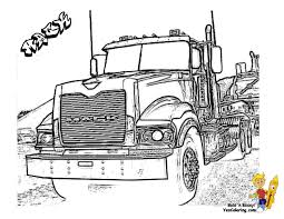 Big Rig Truck Coloring Pages