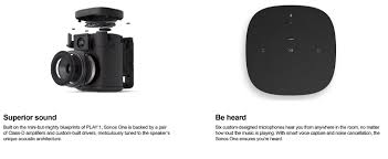 Sonos Ceiling Speakers Amazon by Amazon Com All New Sonos One U2013 Voice Controlled Smart Speaker