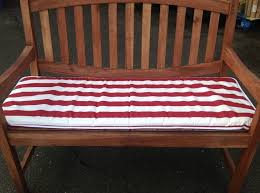 Furniture Fabulous Red And White Stripes Bench Seat Cushion For
