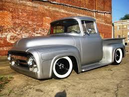 56 Ford F100 Satin Black | Ford F 100 Ano 1956 No Estilo Kustom Ela ...