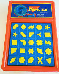 Vintage Perfection Board Game Milton Bradley Complete