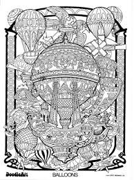 BALLOONS Doodle Art Colouring Poster This Was Uploaded By Doodleartposters