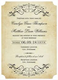 Elegant Flourish Wedding Invitation Template Download