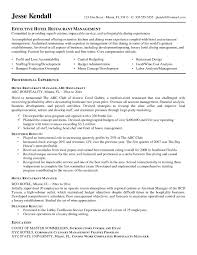 Resume Objective Examples Hospitality Management Best Sample Objectives For Hotel And Restaurant New