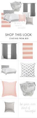 Grey Peach Bedroom