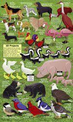 34 best 3d animals images on pinterest wood patterns wood