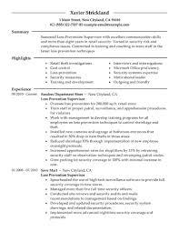 Resume For Supervisor
