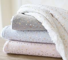 Gold Star Sherpa Baby Blanket