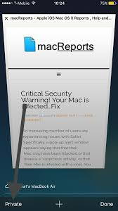 Safari Private Browsing Button Missing Fix iOS macReports